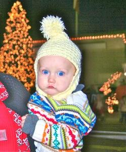 Xander at Christmas parade