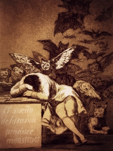 The Sleep Of Reason Produces Monsters (1799) by Goya